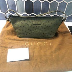 Gucci Ostrich Handbag
